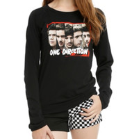 One Direction Faces Girls Pullover Top