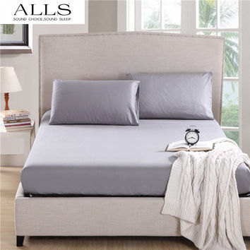 Bed sheet & Pillow case 100% cotton fitted sheet with elastic bed linen