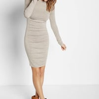 marled ruched sweater dress
