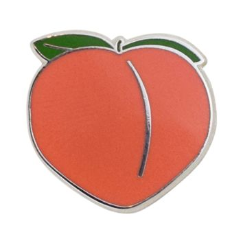 Peach Emoji Pin