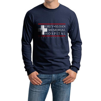 Grey Sloan Memorial Hospital Grey's Anatomy on Longsleeve MEN tee