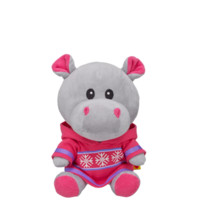 Cozy Cute smallfrys Pink Pal Hippo Stuffed Animal