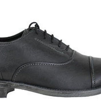 Hush Puppies Mens Oxford Shoes Buck Black Leather Medium (D, M)
