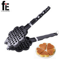 DIY Heart Shape Non-stick Metal Waffle Maker Waffle Mould kitchen Cake Baking Dish