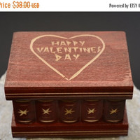 Valentines Day SALE Valentines day gift idea for her him Puzzle Box for girlfriend boyfriend wife husband secret compartment jewelry box val
