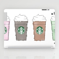 Watercolor Frappuccinos iPad Case by KJ53321 | Society6