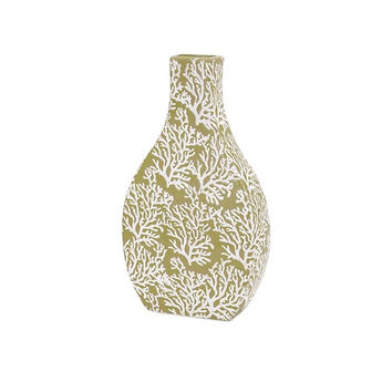 Impressive Coral Small Ceramic Vase by IMAX