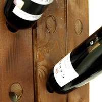 Classic view 20 Bottle Wall Mounted Wood Wine Rack