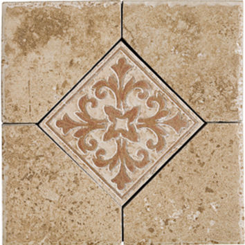 Shop Del Conca Roman Stone Noce Thru Body Porcelain Square Accent Tile (Common: 6-in x 6-in; Actual: 5.91-in x 5.91-in) at Lowe's