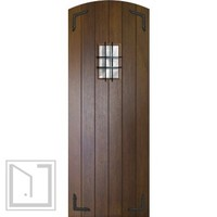 Slab Home Single Door 96 80 Wood Mahogany Rustic Plank Arch Top Solid