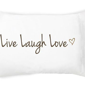 Live, Laugh, Love Single Pillowcase