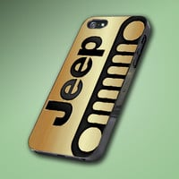 Gold Black Jeep Wrangler - Hard Case Made From Plastic or Rubber - For iPhone 4/4s, 5, 5c, 5s, iPod 4, 5, Samsung S3, S4