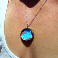 Blaze - Real Butterfly Wing Necklace - Blue Morpho