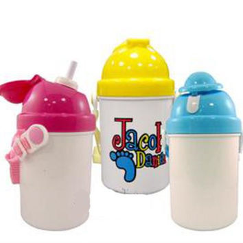 Customized Sippy CUps, NON spill, toddler, kids, gift, holidays, personalized, customized, girl, boy, baby