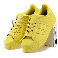 """Adidas"" Fashion Superstar Candy Color Shell-toe Flats Sneakers Sport Shoes High Quality Yellow"