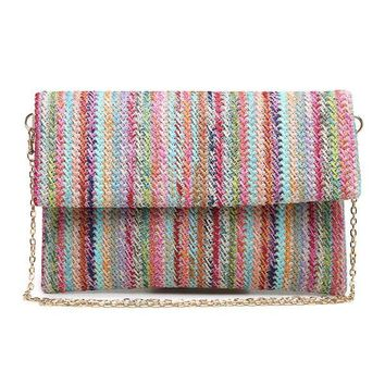Urban Expressions Rainbow Stripe Clutch