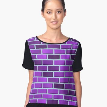 'Purple bricks' Contrast Tank by valezar
