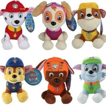 LMFON 1pcs New 20cm Puppy Paw Patrol Dogs Plush Toys for Children Gift Brinquedos for Boy Girls 6 Dogs