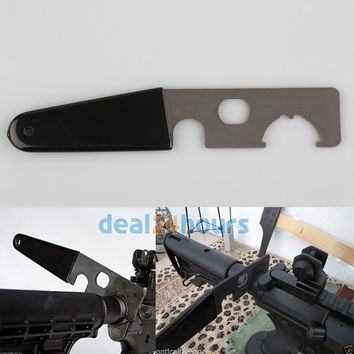 Black Armorer's WRENCH for Extension Tube ar15 Castle Nut A1/A2 Muzzle Brake New Free Shipping!