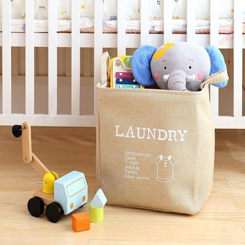 2017 new Large Laundry Hamper Bag Cartoon Clothes Storage Baskets Home clothes barrel Bags kids toy storage laundry basket 64947