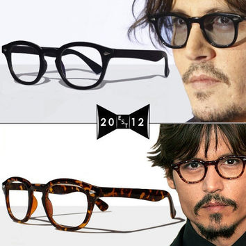 Vintage Glasses - 2 pairs lot  - black & tortoise - wayfarer 1950s 1960s James Dean Johnny Depp Eyeglasses