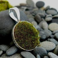 Gather Circle Pendant by AdornJewelry on Etsy
