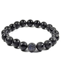 10mm Onyx With Blue and Gunmetal CZ