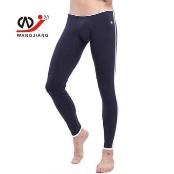 DCCKJG2 Mens Winter Fleece Thermal Underwear New  Cotton Sexy Thermo Underwear Man Long John Underpants