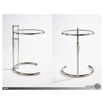 Mobital Angel End Table In Chrome/Glass