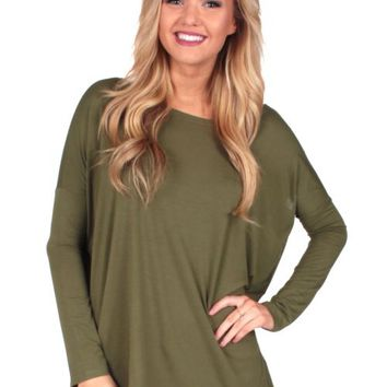 PIKO: Olive Love On Top Tunic   Monday Dress Boutique