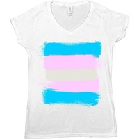 Trans Flag -- Women's T-Shirt