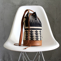 FUTURE GLORY CO. WALKING ROCK BUCKET BAG / PENDLETON WOOL & LEATHER