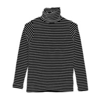 Basic Striped Turtleneck