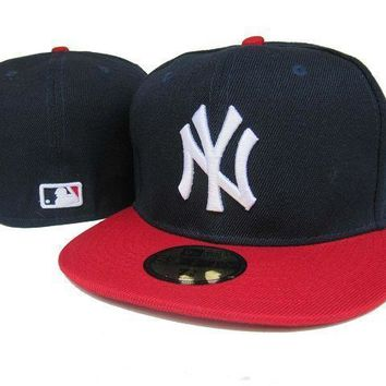 ESBON New York Yankees New Era MLB Authentic Collection 59FIFTY Hat Black-Red