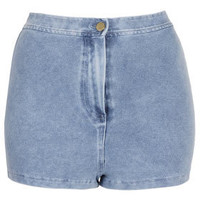 Denim Look High Waist Shorts - New In This Week  - New In