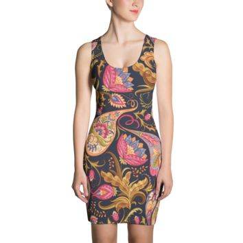 legzo cut & sew dress - psychedelic paisley