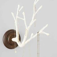 Plum & Bow Yarn-Wrapped Branch Jewelry Organizer- White One