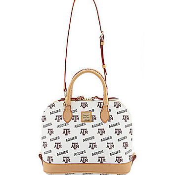 Dooney & Bourke Texas A&M University Triple Zip Cross-Body Bag - White