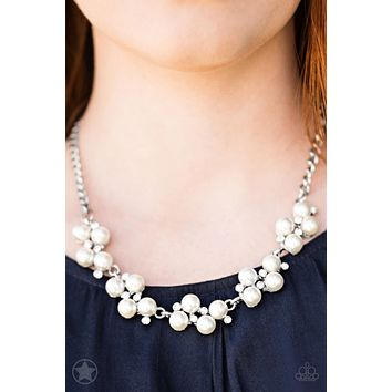 Love Story Paparazzi Pearl and Crystal Necklace & Earring Set