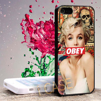 Marilyn Monroe Obey Style Hard cover plastic for iphone 4, iphone 5, samsung s3 i 9300, samsung s4 i 9500