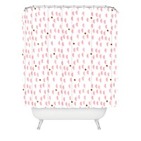 Laura Redburn Pink Rain Shower Curtain