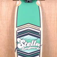 "Stella Prebuilt 38"" Kicktail Shield Green Longboard Complete"