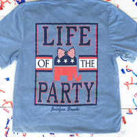 Jadelynn Brooke: Life of the Party V-neck {Blue}