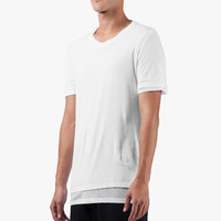KRISVANASSCHE White Double Layer Round Neck T-Shirt | HYPEBEAST Store. Shop Online for Men's Fashion, Streetwear, Sneakers, Accessories