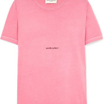 Pink Distressed T-Shirt by Saint Laurent