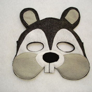 Children's Squirrel Felt Woodland Animal Mask