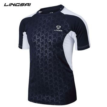 Summer Style New T Shirt Men Camisa Masculina LINGSAI 2016 New Brand Sales Camisas Quick Dry Slim Fit T-shirt Men's Clothing 3XL