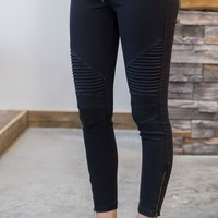 Moto Jeggings - 2 Options