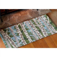 Birch Tree Hearth Rug | Hearth Rugs