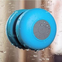YOURNELO Mini Ultra Portable Waterproof Wireless Bluetooth Speaker with Suction Cup for Showers, Bathroom, Car, Outdoor